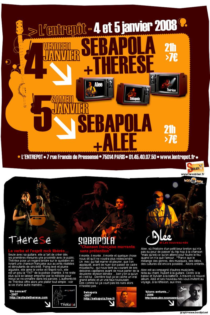 Thérèse en concert le 4 janvier à l'Entrepot Bonsairs100